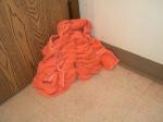 MY TOWEL FELL!